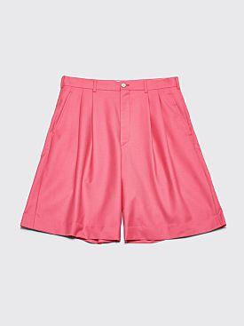 Comme des Garçons Homme Plus Wool Twill Shorts Pink