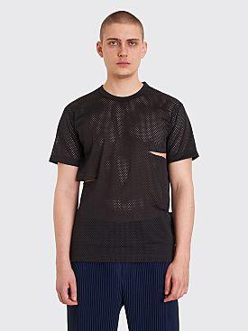 Comme des Garçons Homme Plus Mesh Cut Up T-shirt Black