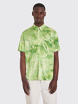Comme des Garçons Homme Plus Short Sleeve Shirt Bright Jersey Dyed Green