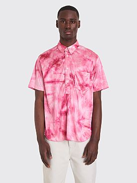Comme des Garçons Homme Plus Short Sleeve Shirt Bright Jersey Dyed Pink