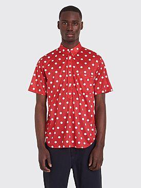 Comme des Garçons Homme Plus Short Sleeve Shirt Polka Dot Red / White