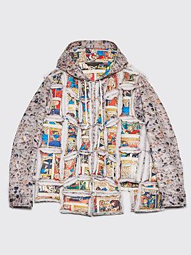 Comme des Garçons Homme Plus Printed Patchwork Jacket Grey