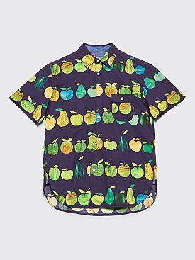 Junya Watanabe MAN Fruit Short Sleeve Shirt Purple / Green