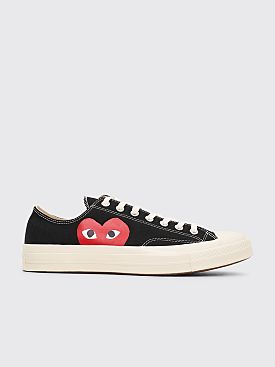 Comme des Garçons Play x Converse Chuck Taylor 70 Big Heart Low Top Black