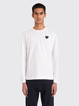 Comme des Garçons Play Small Heart LS T-Shirt White