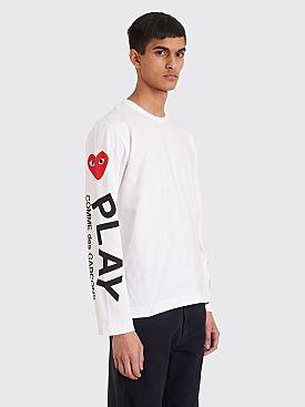 Comme des Garçons Play Printed Sleeves T-shirt White