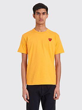 Comme des Garçons Play Small Heart T-shirt Orange