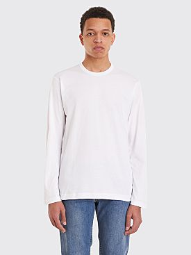 Comme des Garçons Shirt Basic Long Sleeve T-Shirt White