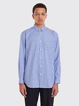 Comme des Garçons Shirt Narrow Classic Shirt Dark Blue Stripe