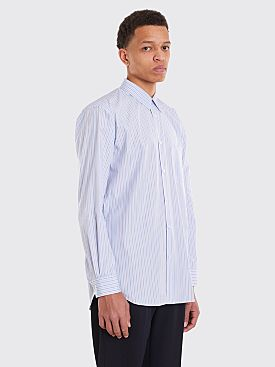 Comme des Garçons Shirt Narrow Classic Shirt Triple Thin Stripe Blue