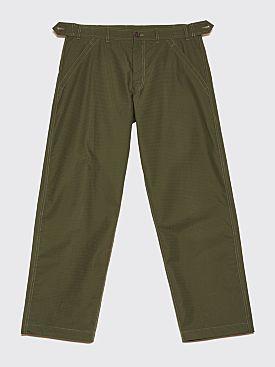 Comme des Garçons Shirt Rip Stop Work Trousers Khaki Green