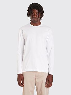 Comme des Garçons Shirt Forever Long Sleeve T-Shirt White