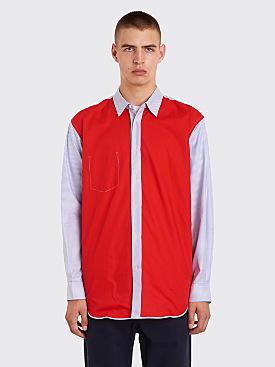 Comme des Garçons Shirt Reversed Shirt Red / Blue