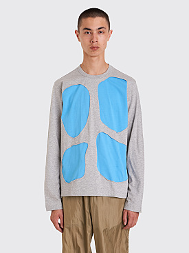 Comme des Garçons Shirt Abstract Cut Out T-shirt Grey