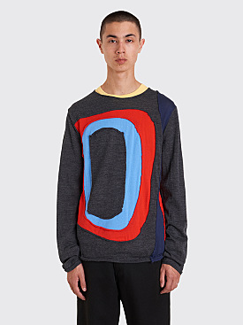 Comme des Garçons Shirt Color Block Sweater Grey