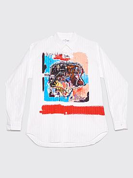 Comme des Garçons Shirt Jean-Michel Basquiat Jacquard Stripe Shirt White