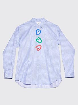 Comme des Garçons Shirt Fantasy Button Shirt Blue