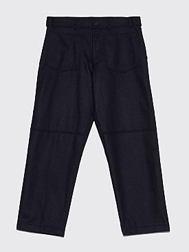 Comme des Garçons Shirt Large Wool Pants Dark Navy