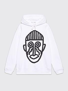 Comme des Garçons Shirt Mask Hooded Sweatshirt White