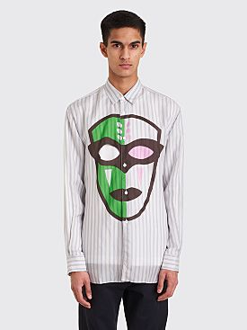 Comme des Garçons Shirt Mask Shirt Ash Grey / Blue