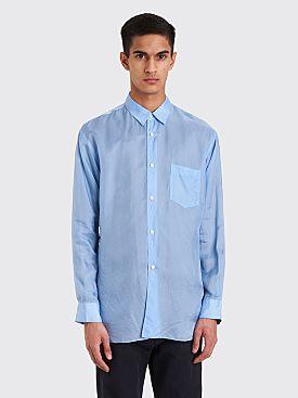 Comme des Garçons Shirt Classic Cupro Shirt Blue