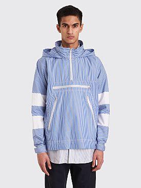 Comme des Garçons Shirt Hooded Overshirt Blue / White