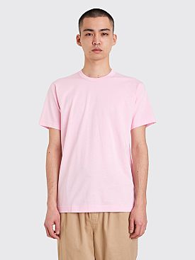 Comme des Garçons Shirt Neck Logo T-shirt Pink