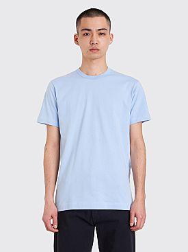 Comme des Garçons Shirt Neck Logo T-shirt Blue