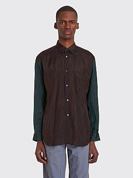 Comme des Garçons Shirt Classic Cupro Shirt Brown Stripe