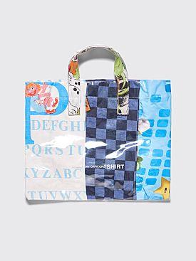 Comme des Garçons Shirt PVC Tote Bag Blue 2