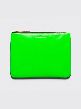 Comme des Garçons Wallet SA5100 Super Fluo Blue Green