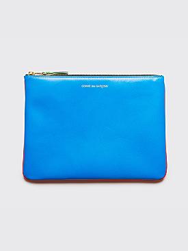 Comme des Garçons Wallet SA5100 Super Fluo Orange / Blue