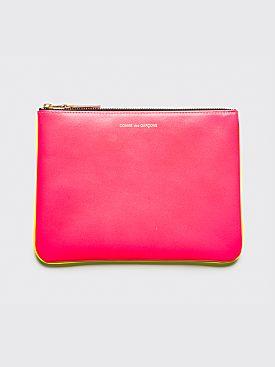 Comme des Garçons Wallet SA5100 Super Fluo Pink Yellow