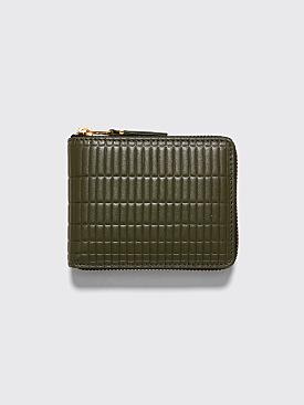 Comme des Garçons Wallet SA7100 Brick Line Khaki