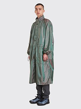 CLAMP Long Rain Coat Olive