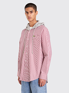 CMMN SWDN Riley Hooded Shirt Red Stripe