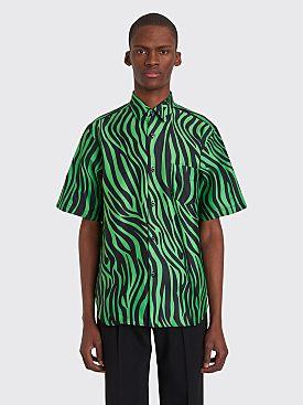 Cobra S.C. Model 1 Neon Zebra Short Sleeve Shirt Black / Green