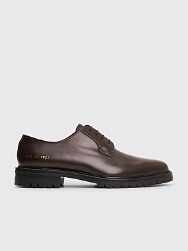 Common Projects Leather Derby Shoes Brown