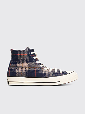 Converse Chuck 70 Hi Plaid Navy / Terracota