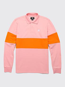 Converse x Golf le Fleur Stripe Polo Candy Pink