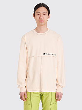 Eckhaus Latta Lapped LS T-Shirt Natural