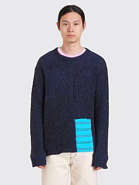 Eckhaus Latta Scrubbie Sweater Midnight Blue