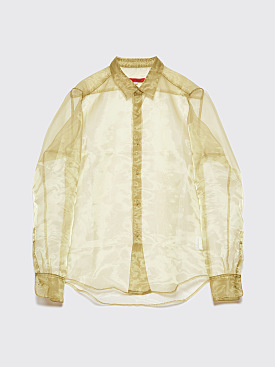 Eckhaus Latta Transparent Shirt Acid Green