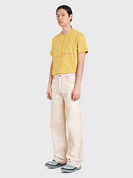 Eckhaus Latta Wide Leg El Jeans Natural