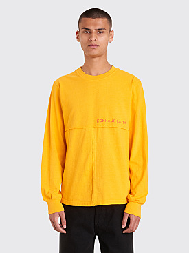 Eckhaus Latta Lapped Long Sleeve T-Shirt Citrus