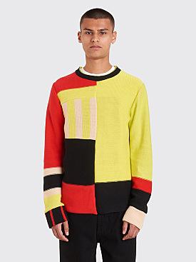Eckhaus Latta Anxious Sweater Chartreuse