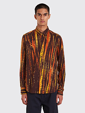 Eckhaus Latta Button Down Shirt Brown Yellow