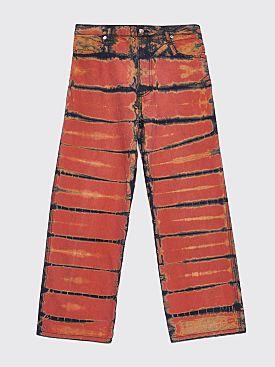 Eckhaus Latta Wide Leg EL Jeans Shibori Dye