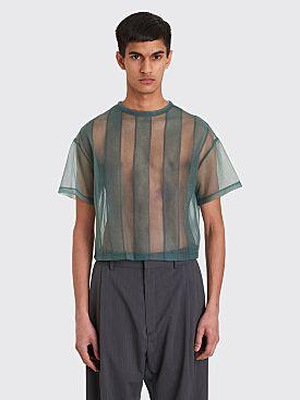 Eckhaus Latta Applique Boxy T-shirt Sage