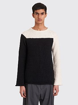 Eckhaus Latta Referee Knit Sweater Black / White